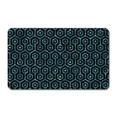 Hexagon1 Black Marble & Blue Green Water Magnet (rectangular) by trendistuff