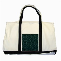Hexagon1 Black Marble & Blue Green Water Two Tone Tote Bag by trendistuff