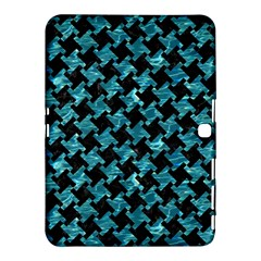 Houndstooth2 Black Marble & Blue Green Water Samsung Galaxy Tab 4 (10 1 ) Hardshell Case  by trendistuff