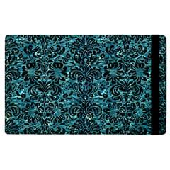 Damask2 Black Marble & Blue Green Water (r) Apple Ipad 2 Flip Case by trendistuff