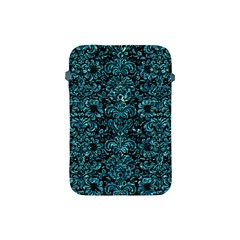 Damask2 Black Marble & Blue Green Water Apple Ipad Mini Protective Soft Case by trendistuff
