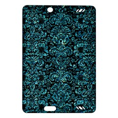 Damask2 Black Marble & Blue Green Water Amazon Kindle Fire Hd (2013) Hardshell Case by trendistuff