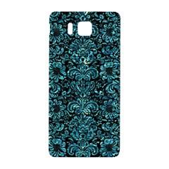 Damask2 Black Marble & Blue Green Water Samsung Galaxy Alpha Hardshell Back Case by trendistuff