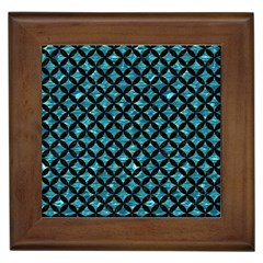 Circles3 Black Marble & Blue Green Water (r) Framed Tile by trendistuff