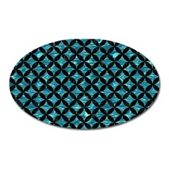 Circles3 Black Marble & Blue Green Water (r) Magnet (oval) by trendistuff
