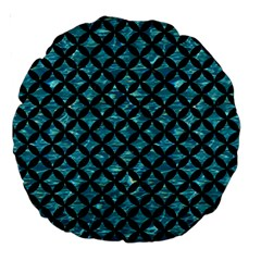 Circles3 Black Marble & Blue Green Water (r) Large 18  Premium Round Cushion  by trendistuff