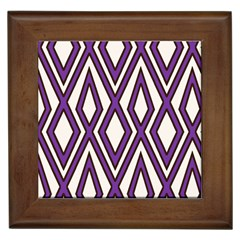 Diamond Key Stripe Purple Chevron Framed Tiles by Mariart