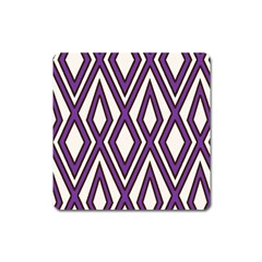 Diamond Key Stripe Purple Chevron Square Magnet by Mariart