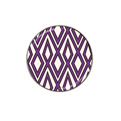 Diamond Key Stripe Purple Chevron Hat Clip Ball Marker (4 Pack) by Mariart