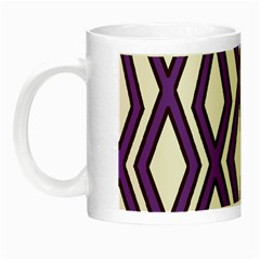 Diamond Key Stripe Purple Chevron Night Luminous Mugs by Mariart