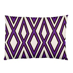 Diamond Key Stripe Purple Chevron Pillow Case by Mariart