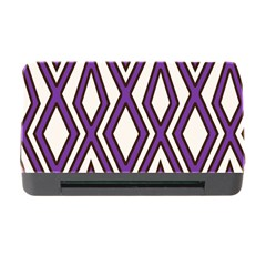 Diamond Key Stripe Purple Chevron Memory Card Reader With Cf by Mariart