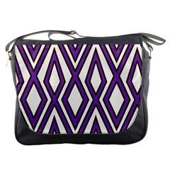 Diamond Key Stripe Purple Chevron Messenger Bags by Mariart