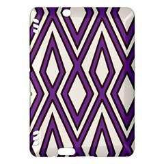 Diamond Key Stripe Purple Chevron Kindle Fire Hdx Hardshell Case by Mariart