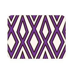 Diamond Key Stripe Purple Chevron Double Sided Flano Blanket (mini)  by Mariart