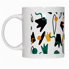 Flowers Duck Legs Line White Mugs by Mariart