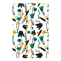 Flowers Duck Legs Line Shower Curtain 48  X 72  (small)  by Mariart