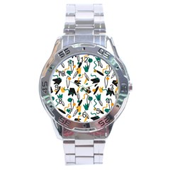 Flowers Duck Legs Line Stainless Steel Analogue Watch by Mariart