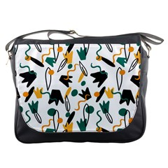 Flowers Duck Legs Line Messenger Bags by Mariart