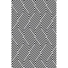 Escher Striped Black And White Plain Vinyl 5 5  X 8 5  Notebooks by Mariart