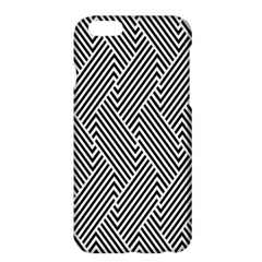 Escher Striped Black And White Plain Vinyl Apple Iphone 6 Plus/6s Plus Hardshell Case by Mariart