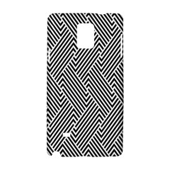 Escher Striped Black And White Plain Vinyl Samsung Galaxy Note 4 Hardshell Case by Mariart
