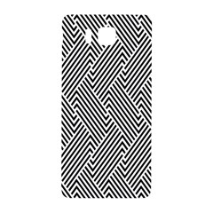 Escher Striped Black And White Plain Vinyl Samsung Galaxy Alpha Hardshell Back Case by Mariart