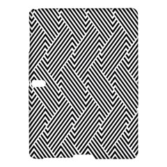 Escher Striped Black And White Plain Vinyl Samsung Galaxy Tab S (10 5 ) Hardshell Case  by Mariart
