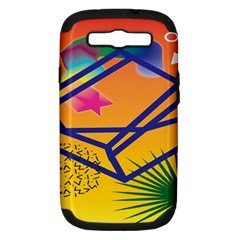 Leaf Star Cube Leaf Polka Dots Circle Behance Feelings Beauty Samsung Galaxy S Iii Hardshell Case (pc+silicone) by Mariart