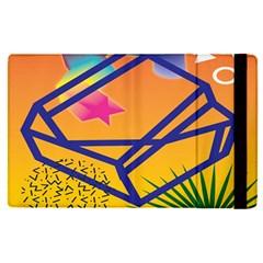 Leaf Star Cube Leaf Polka Dots Circle Behance Feelings Beauty Apple Ipad Pro 9 7   Flip Case by Mariart