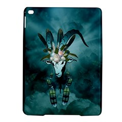The Billy Goat  Skull With Feathers And Flowers Ipad Air 2 Hardshell Cases by FantasyWorld7