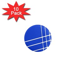 Line Stripes Blue 1  Mini Magnet (10 Pack)  by Mariart