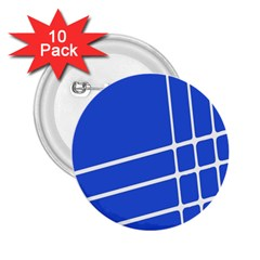 Line Stripes Blue 2 25  Buttons (10 Pack)  by Mariart