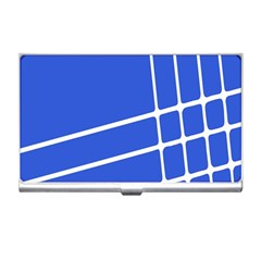 Line Stripes Blue Business Card Holders by Mariart