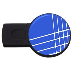 Line Stripes Blue Usb Flash Drive Round (2 Gb) by Mariart