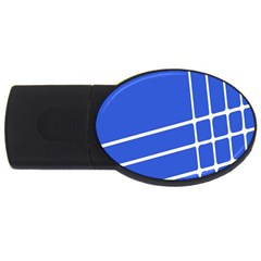 Line Stripes Blue Usb Flash Drive Oval (4 Gb) by Mariart