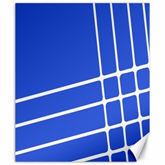 Line Stripes Blue Canvas 20  X 24   by Mariart