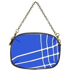 Line Stripes Blue Chain Purses (one Side)  by Mariart