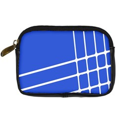 Line Stripes Blue Digital Camera Cases by Mariart