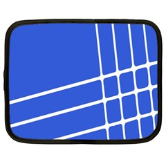 Line Stripes Blue Netbook Case (xxl)  by Mariart