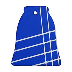 Line Stripes Blue Ornament (bell) by Mariart