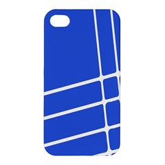 Line Stripes Blue Apple Iphone 4/4s Hardshell Case by Mariart