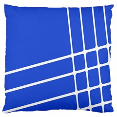Line Stripes Blue Large Cushion Case (two Sides) by Mariart
