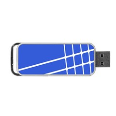 Line Stripes Blue Portable Usb Flash (two Sides) by Mariart