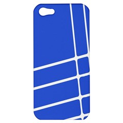 Line Stripes Blue Apple Iphone 5 Hardshell Case by Mariart