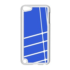 Line Stripes Blue Apple Ipod Touch 5 Case (white) by Mariart