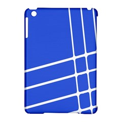 Line Stripes Blue Apple Ipad Mini Hardshell Case (compatible With Smart Cover) by Mariart