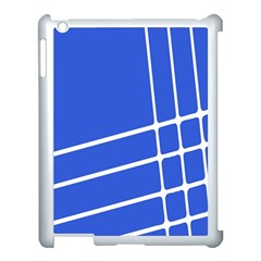 Line Stripes Blue Apple Ipad 3/4 Case (white) by Mariart