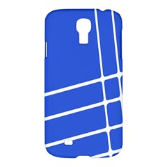 Line Stripes Blue Samsung Galaxy S4 I9500/i9505 Hardshell Case by Mariart
