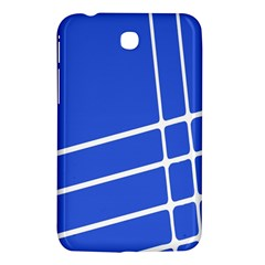Line Stripes Blue Samsung Galaxy Tab 3 (7 ) P3200 Hardshell Case  by Mariart